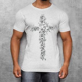 Camisa T-shirt Silk Camiseta Cruz De Flores Manga Curta Off