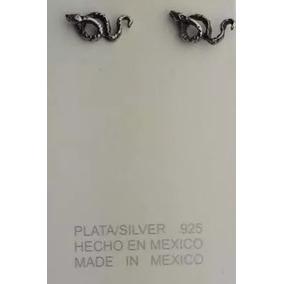Aretes Broquel De Plata .925 Forma De Serpiente Para Dama