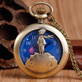 Reloj De Bolsillo Vintage El Principito Collar Con Cadena