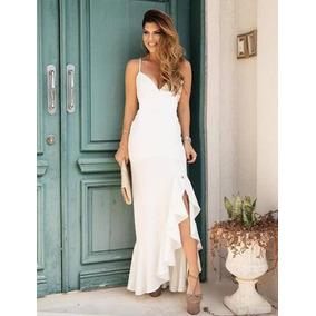Vestido Longo Festa Madrinha Formatura C/ Bojo Pmg #bianca L