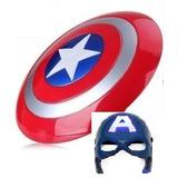 Escudo Capitan America Con Luy Y Sonido * Máscara Con Luz.