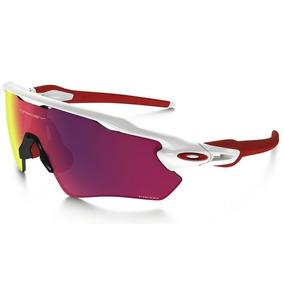 7d32fc516fbc4 Óculos Oakley Radar Path Branco E Vermelho 5 Lentes De Sol - Óculos ...
