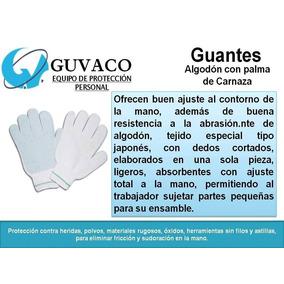 Guante De Algodón Con Palma De Carnaza