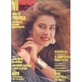 Manchete 1986.maitê.eleições.marilena.liz.tetê Espindola.