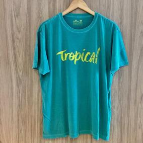 a1c8e75672b22 ( M ) Camiseta Osklen Stone Tropical City Brazilian Soul