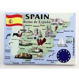 España Serie Ue Refrigerador Del Recuerdo Del Imán De 2,5 X
