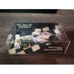 Miniatura F1 Button Brawn 2009 Minichamps 1/43 Campeão