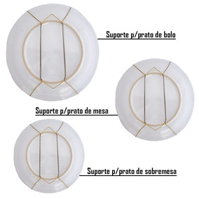 Combo 5 Suportes/ganchos Mola Pratos Decorativos Parede