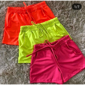 Shorts Neon Cirre Carnaval Moda 2019
