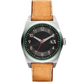 7dc0dd7e7a8 Armani Exchange Relógio Couro Cinza Strap Ax6006 Masculino ...