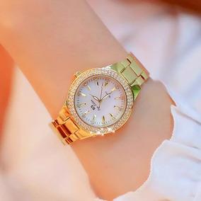 Relógios De Quartzo Feminino Relógios De Pulso De Aço Inoxid