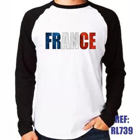 Tr00160 Camiseta Estampada Com Bandeira Da França - Camisetas no ... a28ec7fb921e1