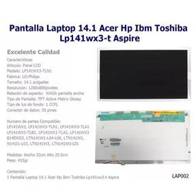 Pantalla Laptop 14.1 Acer Hp Toshiba Lp141wx3 | Matvesystems