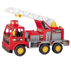 Carrinho De Brinquedo Meninos Bombeiro Fire 5042 Magic Toys