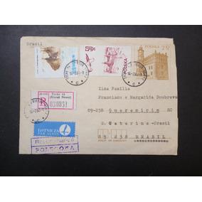 Polônia 1983 Carta Pré-selada Circulada Para Sc - L - 3588