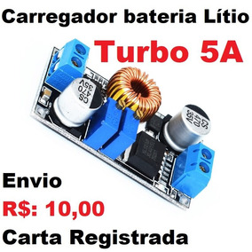 Carregador 3pçs Bateria 18650 26650 Lítio Turbo 5a Step Down