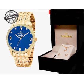 8583e6eaa16 Colar E Brinco De Perola Azul Champion - Relógios De Pulso no ...
