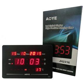 d2ed4acfb2b Relógio De Mesa Digital Despertador Calendario E Temperatura ...