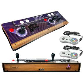 Fliperama Portátil Atari Premium, 8500 Jogos+2controles Snes