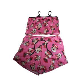 Conjunto Feminina Batedeira Minie Minnie Cropped E Short