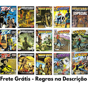 Kit Super Combo 15 Hq Tex Zagor Magico Vento Julia Kendall