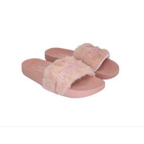 cd28f80d26e Chinelo Da Rihanna Pelucia - Sapatos Rosa no Mercado Livre Brasil
