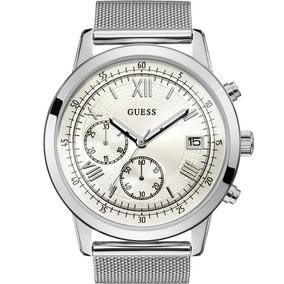 5010113f6e6 Relógio Guess Masculino Pulseira Prata Original 92680g0gdna7