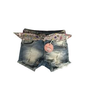 Shory Jeans Infantil Feminino Tam 123