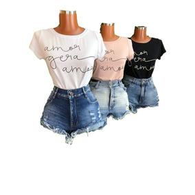 Kit 40 T-shirts Blusas Femininas Roupas Atacado