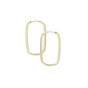 Brinco Argola Retangular Ouro 18k Fio Quadrado 10017a - Brincos no ... 6abbb39a7a