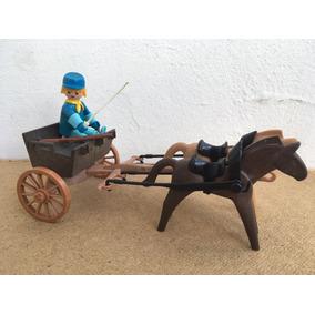 Playmobil 3244 Western Charrete Da União Ótimo Estado