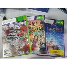 Kinect Disneyland+kinect Adventures+virtua Tennis 4 Xbox 360