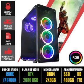 Computador Gamer Core I7 8700k + Rtx2080 + 16gb 2933mhz +nf