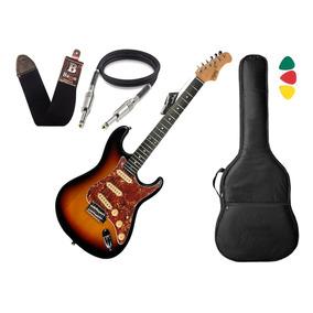 Guitarra Tagima T635 Classic Sunburst Escala Clara Capa Cabo