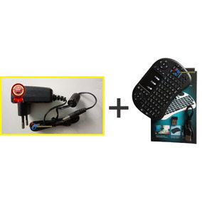 Kit Fonte 5v Bivolt P/ Tv Box Btv9 + Mini Teclado Bluetooth