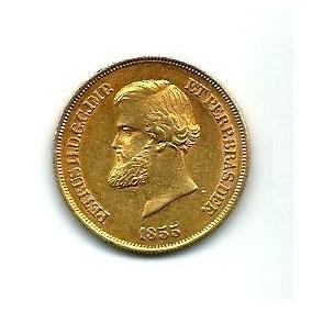 Moeda De Ouro 10.000 Reis 1855