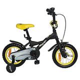 Bicicleta Aro 12 Batman Matte Black / Neon Yellow -