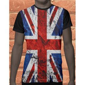 6bd08cdc84 Camiseta Bandeira Reino Unido 2 Inglaterra - Camisetas Manga Curta ...