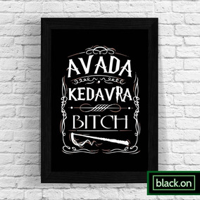 Poster A4 Quadro Moldura Hp Potter Avada Kedavra 30x20cm 16