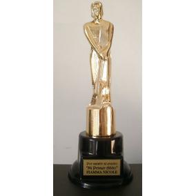 Premio Estatuilla Martin Fierro 24cm Base Plastico Con Peso