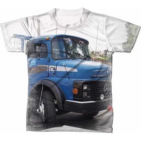 Camisa Camiseta Caminhão Mercedes Benz Muriçoca Azul Farol ab53e5f8c61da