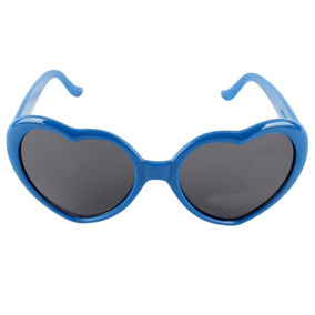 d50ea59979fa3 Óculos De Sol Formato De Coração Óculos De Coração Azul Clar ...