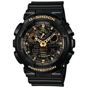 11aaad230b1 Relógio Casio G-shock Masculino Anadigi Preto Ga100cf1a9dru. R  1.275