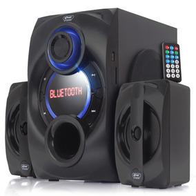 Caixa De Som Bluetooth Portátil Knup 6025bh Fm 2.1 Subwoofer