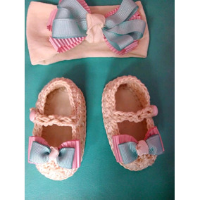 Zapatos Tejidos Tiara Para Bebé Pastel