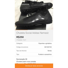 70937ef794 Chuteira Society Adidas F50 Número 39 Camaleão Adultos - Chuteiras ...