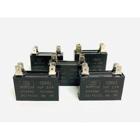 Capacitor 1.mf 450v Quadrado(5 Unidades)