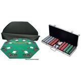 Paquete: Marca Comercial De Póquer Deluxe Poker Madera Só