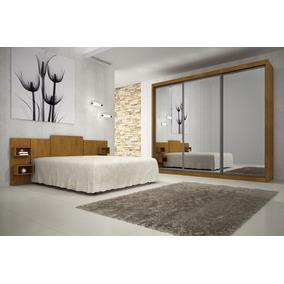 Guarda-roupa Rufato Ravena Top C/ 03 Portas Espelho-imbuia