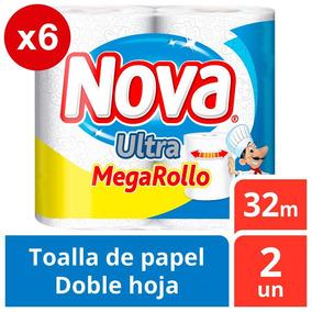 Toalla Nova Ultra Pack X6 12u 32m Extra Grande Oferta